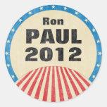 Ron Paul 2012 pegatinas redondos