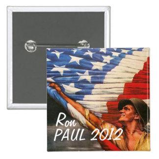 Ron Paul 2012 Pin Cuadrada 5 Cm