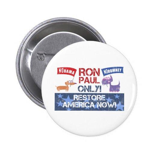 Ron Paul 2012 Pin Redondo 5 Cm