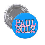 Ron Paul 2012 PINK Pinback Buttons