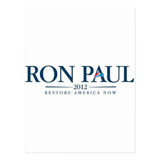 Ron Paul 2012 Post Card