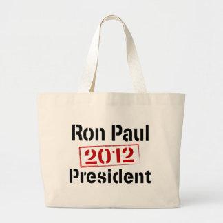 Ron Paul 2012 president Large Tote Bag