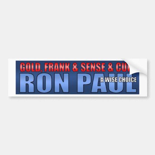 Ron Paul 2012 Presidential Campaign Car Bumper Sticker