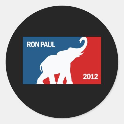 RON PAUL 2012 PRO CLASSIC ROUND STICKER