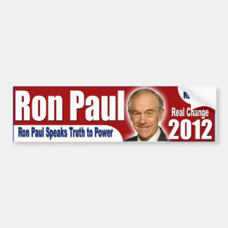 Ron Paul 2012 - Real Hope, Real Change Car Bumper Sticker