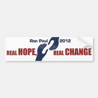 Ron Paul 2012: Real Hope, Real Change Car Bumper Sticker