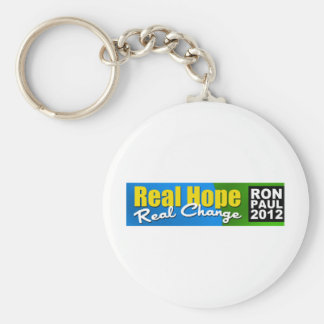 Ron Paul 2012: Real Hope, Real Change Keychain