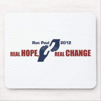 Ron Paul 2012: Real Hope, Real Change Mouse Pad