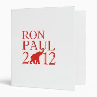 RON PAUL 2012 (Republican) 3 Ring Binders
