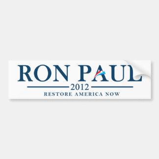 Ron Paul 2012 - Restablecimiento América ahora Pegatina Para Auto