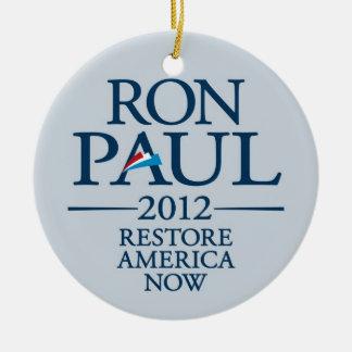 Ron Paul 2012 - Restablecimiento América ahora Ornamentos Para Reyes Magos
