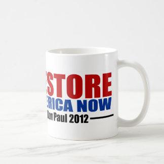 Ron Paul 2012: Restablecimiento América ahora Taza De Café
