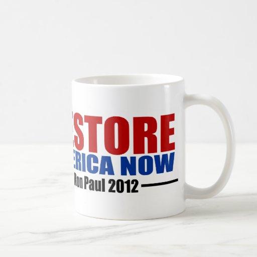 Ron Paul 2012: Restablecimiento América ahora Taza