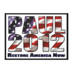 Ron Paul 2012 Restore America Now Stretched Canvas Prints