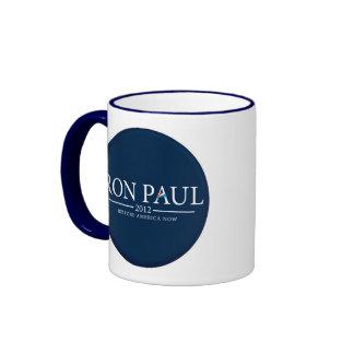 RON PAUL 2012 RESTORE AMERICA NOW CUP/MUG RINGER COFFEE MUG