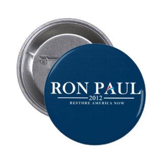 Ron Paul 2012 - Restore America Now Pinback Button