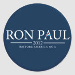 RON PAUL 2012 RESTORE AMERICA NOW STICKER