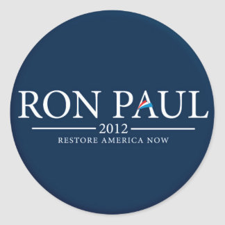 RON PAUL 2012 RESTORE AMERICA NOW STICKER