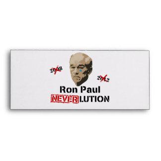 Ron Paul 2012 Revolution Neverlution Envelope