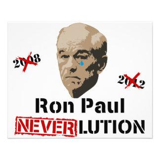 Ron Paul 2012 Revolution Neverlution Flyer