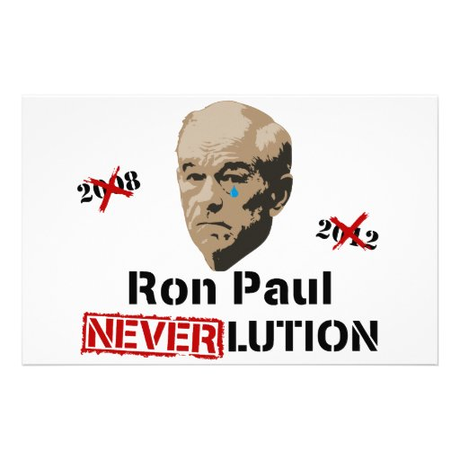 Ron Paul 2012 Revolution Neverlution Personalized Stationery