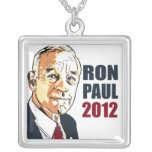 Ron Paul 2012 Square Pendant Necklace