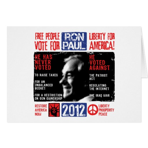 Ron Paul 2012 Stationery Note Card