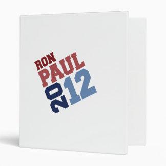 RON PAUL 2012 SWAY VINYL BINDERS