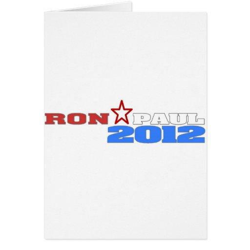 Ron Paul 2012 Tarjeta De Felicitación