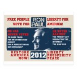 Ron Paul 2012 Tarjetas Postales