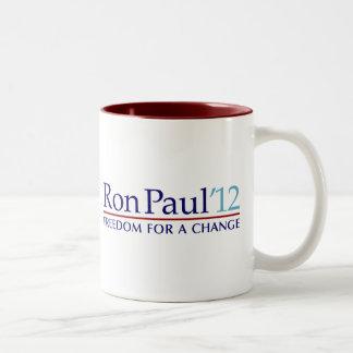 Ron Paul 2012 Taza De Dos Tonos
