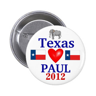 Ron Paul 2012 Texas Pin