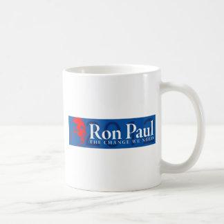Ron Paul 2012 - The Change We Need Classic White Coffee Mug