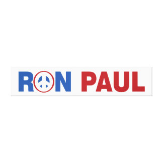 Ron Paul 2012 The Peace Candidate Canvas Print
