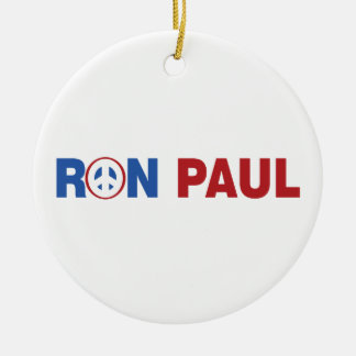 Ron Paul 2012 The Peace Candidate Christmas Tree Ornaments