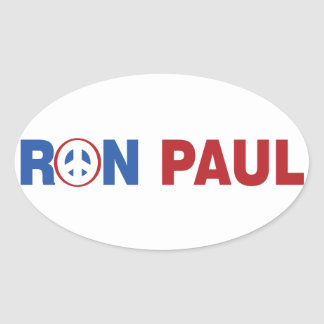 Ron Paul 2012 The Peace Candidate Oval Sticker