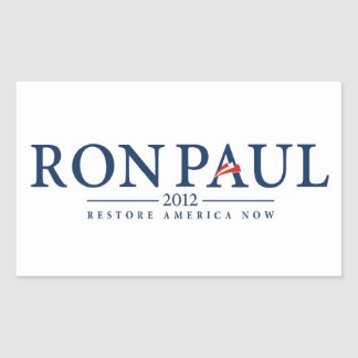 ron paul 2012 usa president election logo politics rectangular sticker