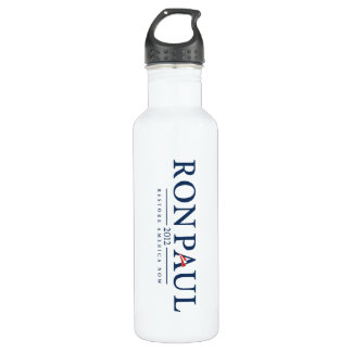 ron paul 2012 usa president election logo politics stainless steel water bottle