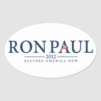 ron paul 2012 usa president election logo politics oval sticker