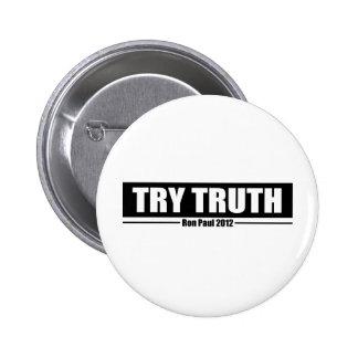 Ron Paul 2012: Verdad del intento Pins
