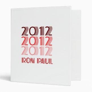 RON PAUL 2012 VINTAGE BINDERS