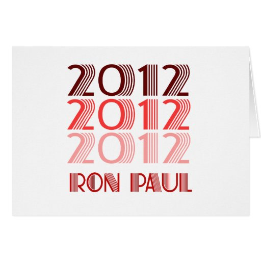 RON PAUL 2012 VINTAGE GREETING CARDS