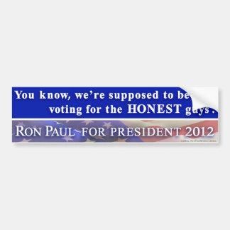 """Ron Paul 2012 - """"… votando por los individuos hone Pegatina Para Auto"""