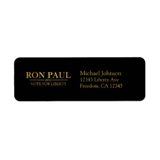 Ron Paul 2012 Vote for Liberty Address Labels