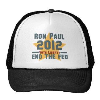 RON PAUL 2012 VOTE LIBERTY HAT