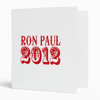 RON PAUL 2012 (Western) 3 Ring Binders