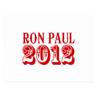 RON PAUL 2012 (Western) Postcard
