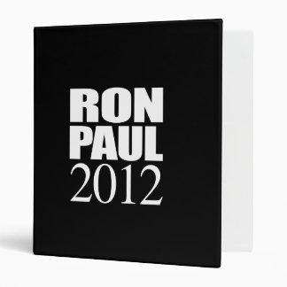 RON PAUL 2012 (white) Binder