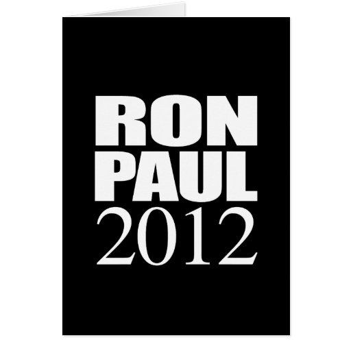 RON PAUL 2012 (white) Cards