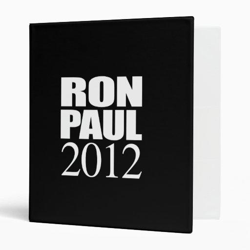 RON PAUL 2012 (white) Vinyl Binder